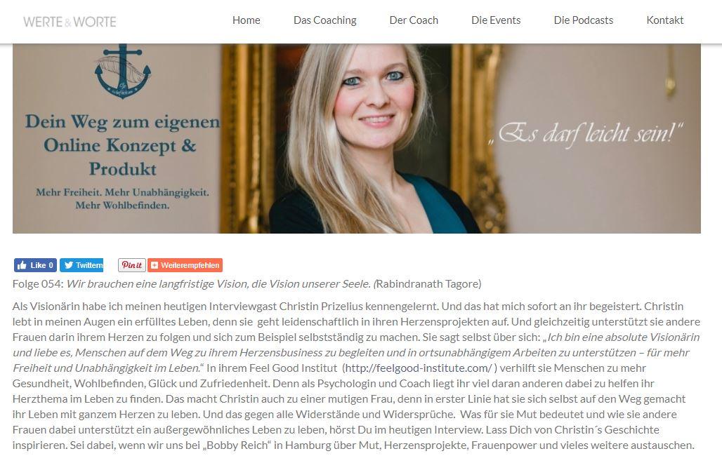 Christin Prizelius, Madeleine Höner zu Siedernissen