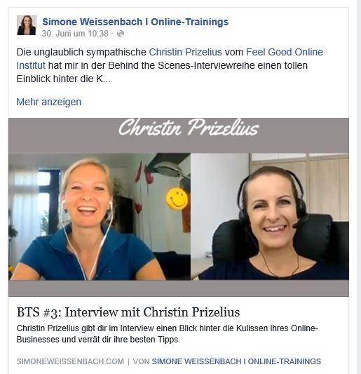 Simone Weissenbach, Christin Prizelius, Online Business