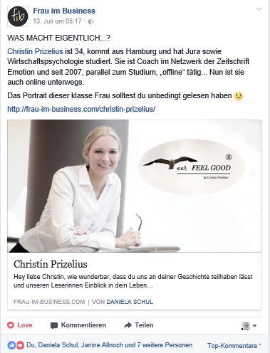 Christin Prizelius, Daniela Schul